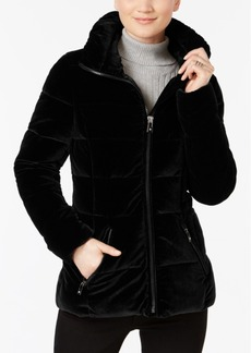 Inc International Concepts Velvet Puffer Coat, Created for Macy's