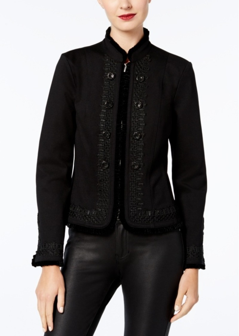 Inc International Concepts Velvet-Trim Jacket, Created for Macy's
