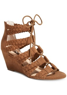 Inc International Concepts Witley Lace-Up Wedge Sandals, Only at Macy's Women's Shoes