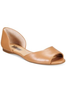 Inc International Concepts Women's Elsah d'Orsay Peep-Toe Flats, Only at Macy's Women's Shoes