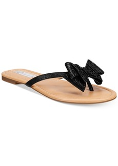 I.n.c. Women's Mabae Bow Flat Sandals, Created for Macy's Women's Shoes