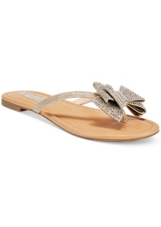 Inc International Concepts Women's Mabae Bow Flat Sandals, Only at Macy's Women's Shoes