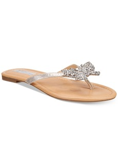 Inc International Concepts Women's Maregoald Butterfly-Embellished Flat Sandals, Only at Macy's Women's Shoes
