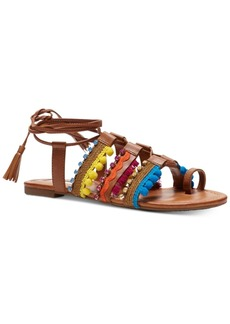 Inc International Concepts Women's Mariani Popsicle Collection Lace-Up Flat Sandals, Created for Macy's Women's Shoes