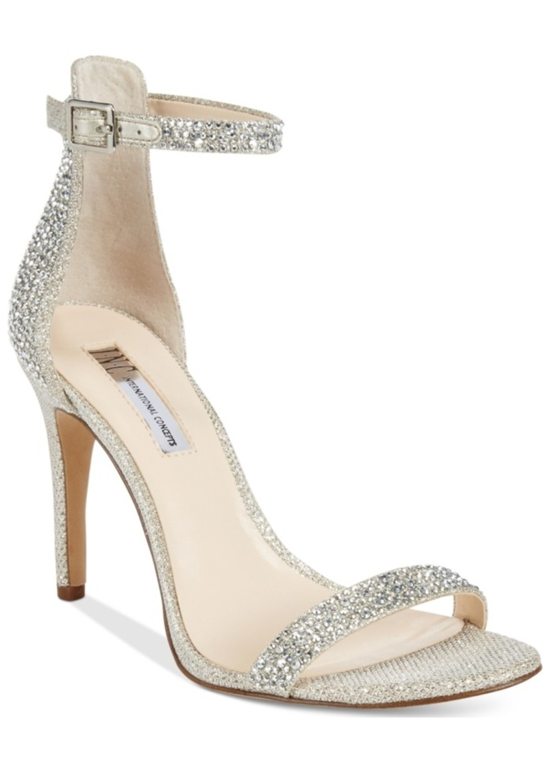 Inc International Concepts Women's Roriee Rhinestone Ankle-Strap Dress Sandals, Created for Macy's Women's Shoes