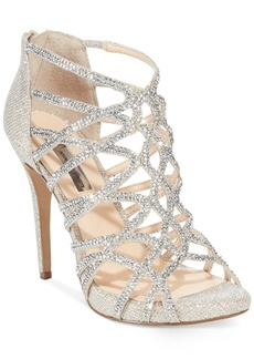 Inc International Concepts Women's Sharee High Heel Rhinestone Evening Sandals, Only at Macy's Women's Shoes