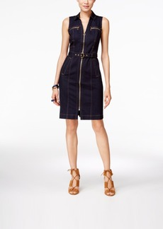 Inc International Concepts Zip-Front Denim Dress, Only at Macy's
