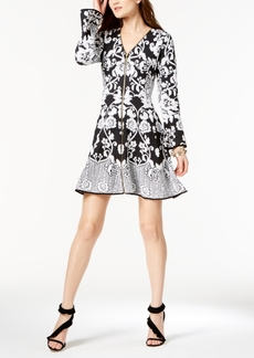 I.n.c. Zip-Front Jacquard Sweater Dress, Created for Macy's