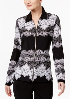 Inc International Concepts Zip-Front Lace Shirt, Only at Macy's