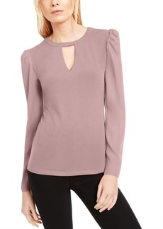 INC International Concepts Inc Keyhole Puff-Sleeve Blouse, Created For Macy's