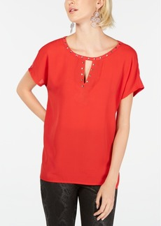 INC International Concepts I.n.c. Keyhole Stud Knit Top, Created for Macy's