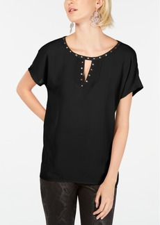 INC International Concepts Inc Keyhole Stud Knit Top, Created for Macy's