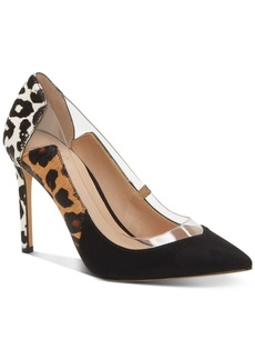INC International Concepts Inc Khione Vinyl-Pieced Multi-Animal Pumps, Created for Macy's Women's Shoes