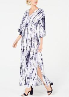INC International Concepts Inc Kimono-Sleeve Tie Dye Maxi Dress, Created for Macy's