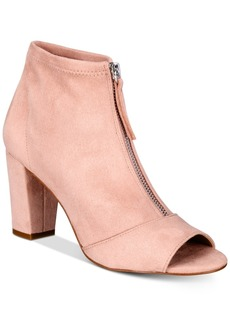 INC International Concepts I.n.c. Kirsi Zipper Booties, Created for Macy's Women's Shoes