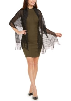 INC International Concepts Inc Knit Fringe Evening Wrap, Created for Macy's