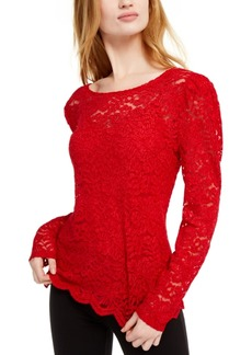 INC International Concepts Inc Lace Top, Created For Macy's