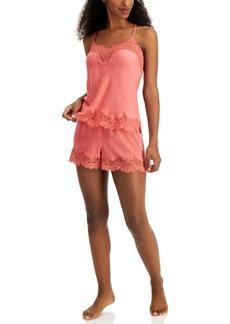 INC International Concepts Inc Lace-Trim Cami & Shorts Sleep Set, Created for Macy's