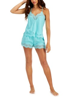 Inc International Concepts Lace-Trim Cami & Shorts Sleep Set, Created for Macy's
