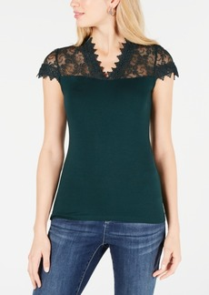 INC International Concepts Inc Lace-Trim Top, Created for Macy's