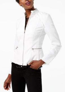 I.n.c. Lace-Up-Back Denim Jacket, Created for Macy's