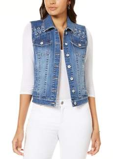 INC International Concepts I.n.c. Lace-Up Denim Vest, Created for Macy's
