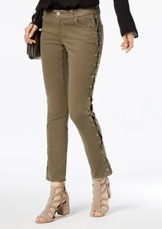 INC International Concepts I.n.c. Lace-Up Skinny Jeans, Created for Macy's