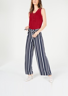 INC International Concepts Inc Lace-Up Top, Created for Macy's