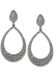 """INC International Concepts Inc Large 1.8"""" Silver-Tone Pave Drop Hoop Earrings, Created for Macy's"""