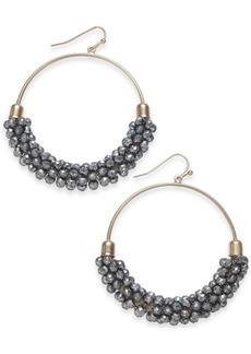 "INC International Concepts Inc Large Bead Medium Hoop Earrings, 2"", Created for Macy's"
