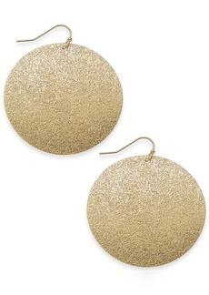 "INC International Concepts Inc Large Glitter Flat Medium Hoop Earrings, 2"", Created for Macy's"