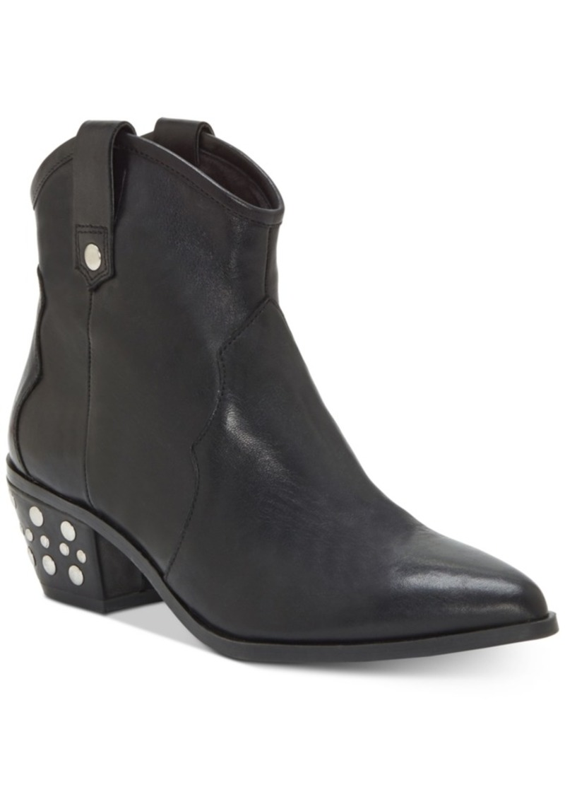 INC International Concepts Inc Latisha Western Studded Leather Booties, Created for Macy's Women's Shoes
