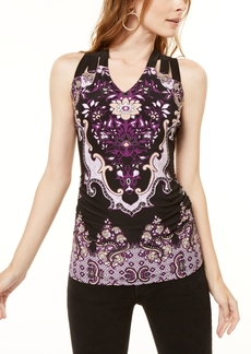 INC International Concepts I.n.c. Lattice-Back Tank Top, Created for Macy's
