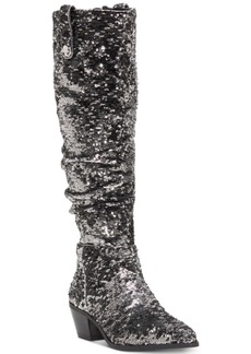 INC International Concepts Inc Launa Western Sequined Boots, Created for Macy's Women's Shoes