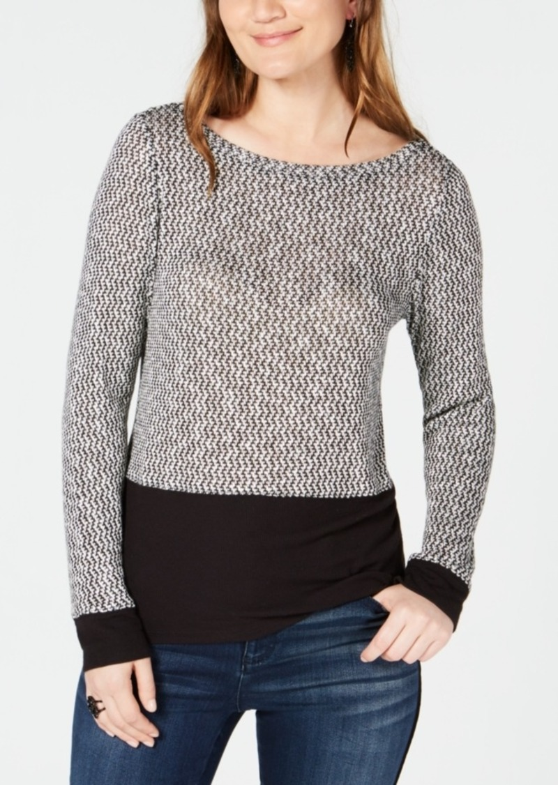 INC International Concepts Inc Layered-Look Knit Top, Created for Macy's