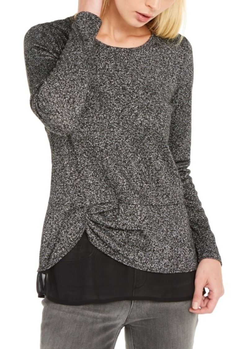 INC International Concepts Inc Layered-Look Metallic Top, Created For Macy's
