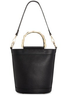 INC International Concepts Inc Leiza Bamboo Handle Bucket Bag, Created For Macy's