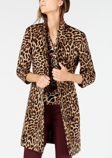 INC International Concepts I.n.c. Leopard-Print Cocoon Coat, Created for Macy's