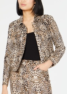 INC International Concepts Inc Leopard-Print Jacket, Created for Macy's