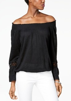 INC International Concepts I.n.c. Linen Peasant Top, Created for Macy's