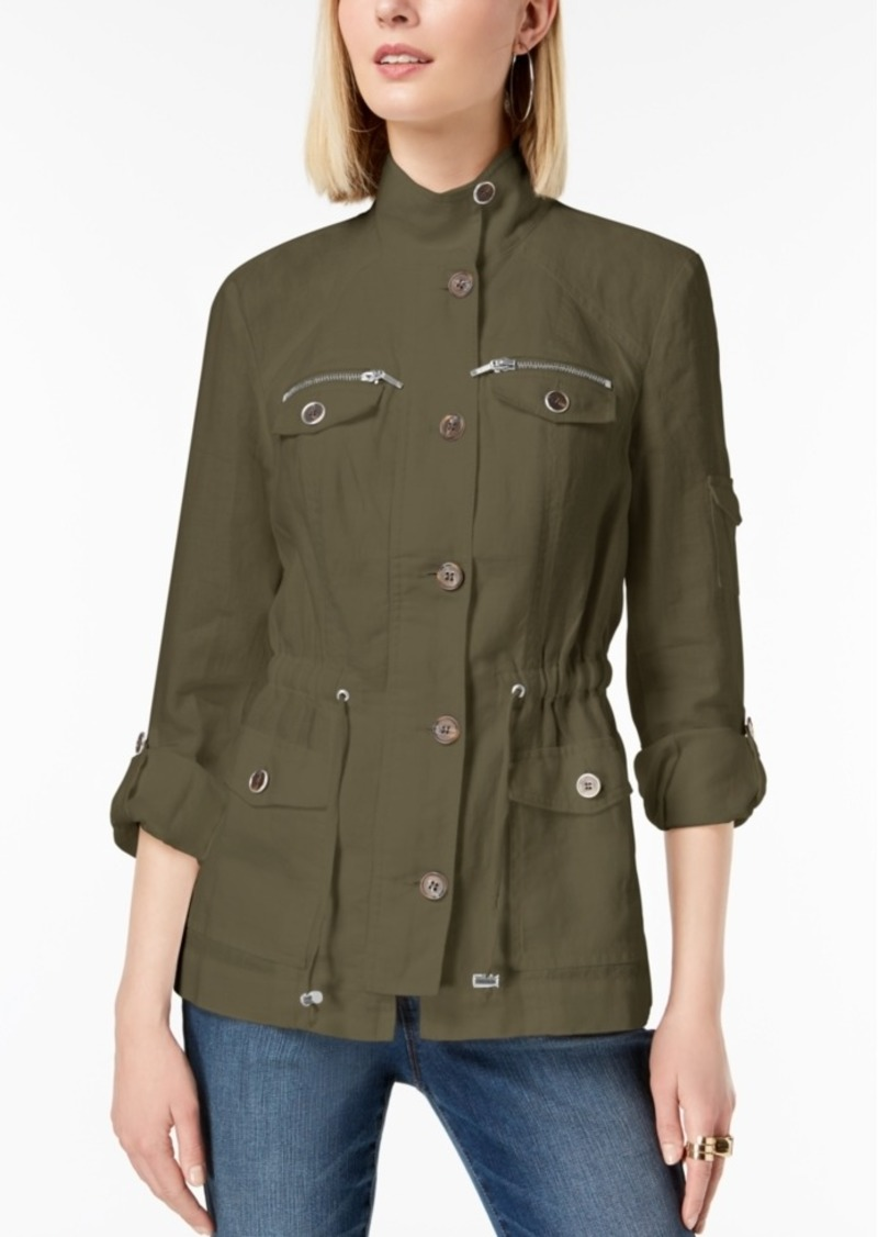INC International Concepts I.n.c. Linen Utility Jacket, Created for Macy's