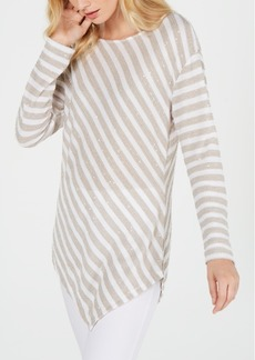 INC International Concepts Inc Long-Sleeve Striped Top, Created for Macy's