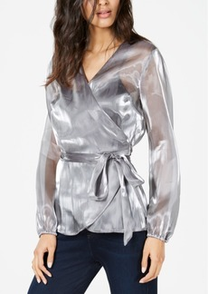 INC International Concepts I.n.c. Long-Sleeve Wrap Blouse, Created for Macy's