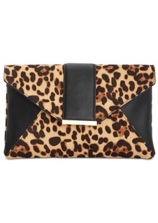 INC International Concepts Inc Luci Leopard Print Clutch, Created for Macy's