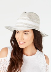 INC International Concepts Inc Lurex Tweed Panama Hat, Created for Macy's