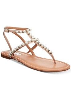INC International Concepts I.n.c. Madigane Embellished Flat Thong Sandals, Created for Macy's Women's Shoes