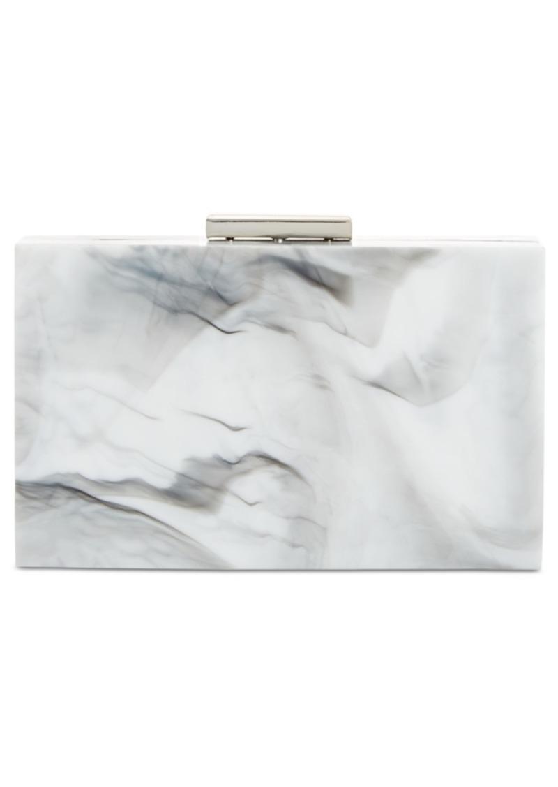 Inc Inci Marble Box Clutch, Created for Macy's