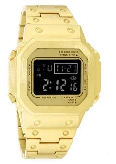 INC International Concepts Inc Men's Digital Gold-Tone Bracelet Watch 44mm, Created for Macy's