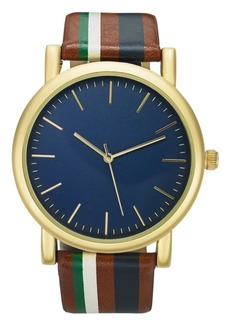 INC International Concepts Inc Men's Striped Strap Watch 44mm, Created for Macy's