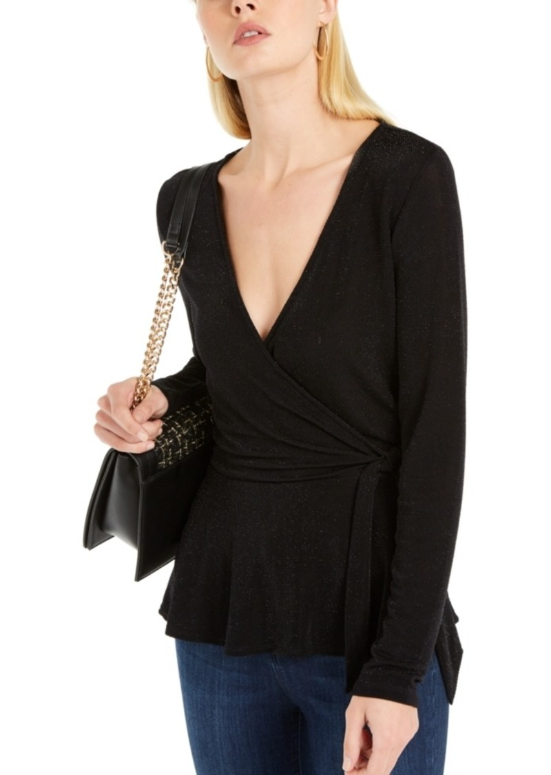 INC International Concepts Inc Metallic Surplice Sweater, Created For Macy's